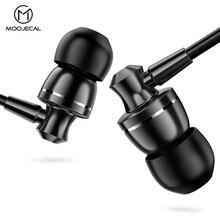 MOOJECAL New Earphone Heavy Bass Wired Earphone In-Ear Earphones With Mic Comforted Earbud Volume Control Stereo Sport Headset-cashback