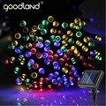 Goodland Impermeable LLEVÓ Luces de la Secuencia Solar Luz LED 20 M Luces de Hadas de la Navidad Al Aire Libre Jardín Iluminación Decoración de La Boda