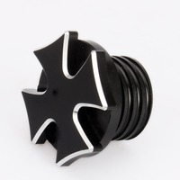 Motorcycle Parts Black Cross Fuel Gas Tank Harley Softail Oil Cap Cover For Harley Dyna Oil