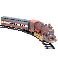 Retro Simulation Electric Train Model Classic Smoking Rail Car Light Music Boys Toys For Children Electronic Components 00821
