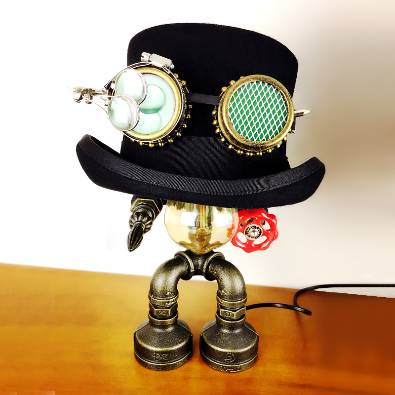 GEARDUKE Steampunk Top Hat Cap goggle Props Magic Hat Gothic Retro Rock Halloween Cosplay Masquerade Party high-class Christmas