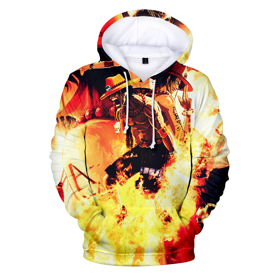 New Fashion 3d Hoodie Sweatshirt Anime One Piece Monkey D Luffy Hooded Hoodies Pullovers Tops Oversized Streetwear Drop Shipping Online Discount Men's Clothing