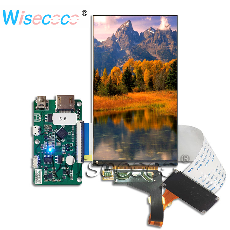 5.5 Inch Resolution 1440 * 2560 2K LCD Display LS055R1SX04 50PIN 2USB HDMI New Control Driver Board For Raspberry Pi 3D Printer
