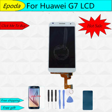 цена на Original For Huawei Ascend G7 LCD Display with Touch Screen Digitizer Assembly Black White + Tools