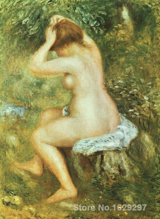 handmade oil painting reproductions Pierre Auguste Renoir Bather is Styling High quality Handmadehandmade oil painting reproductions Pierre Auguste Renoir Bather is Styling High quality Handmade