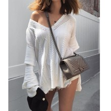 MUXU sweater fashion long sleeve knitted fall sueteres mujer de moda pullovers white jumpers