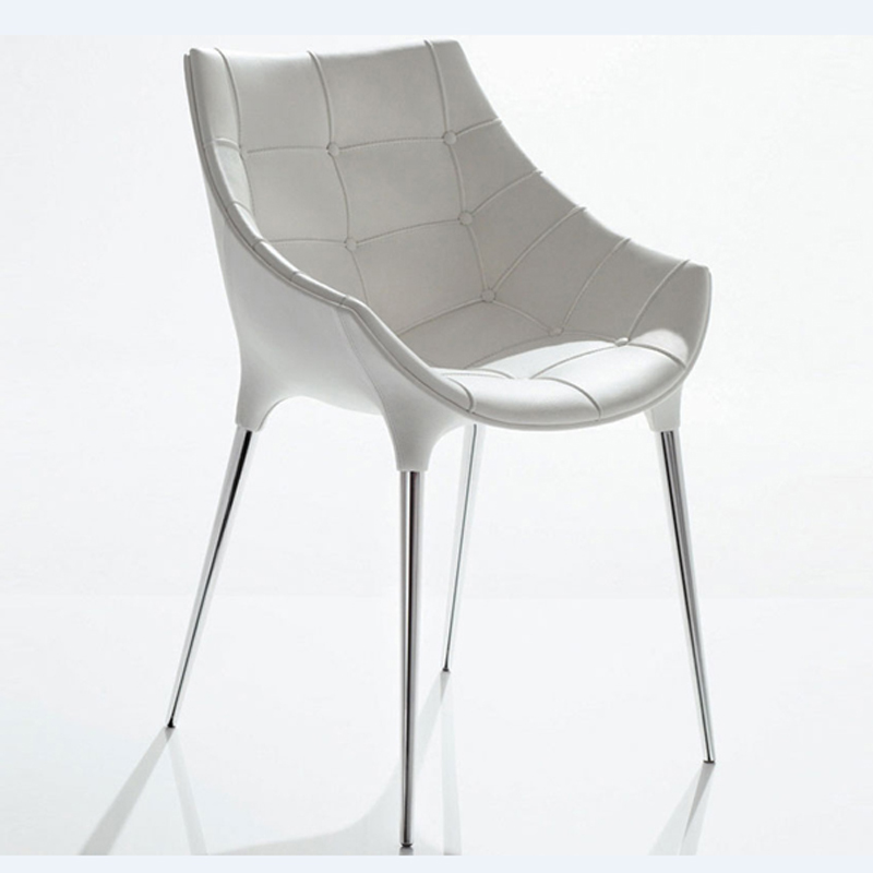 Free Shipping White Pu Leather  Armchair  цена и фото