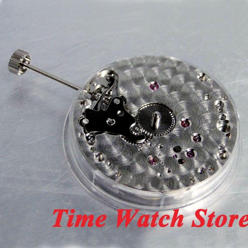 Parnis 17 klejnotów łabędź szyja mechaniczny 6497 ręcznie nakręcany ruch pasuje zegarek męski M1 w Tarcze do zegarków od Zegarki na  Grupa 3
