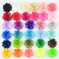 32pcs/lot 32colors 4.5cm Chiffon Fabric flower Without Clip For Baby Girls DIY Garments Hair Decorative Accessories