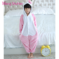 Mengshufen Pajamas Set Children Dot Cat Sleepwear Set Flannel Nightgown Winter Funny Unsiex Pyjamas Cartoon Warm