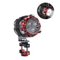 SPIRIT BEAST Motorcycle Aluminum Headlight Bulbs LED 15W Spotlights MOTO Light Decorative Accessories