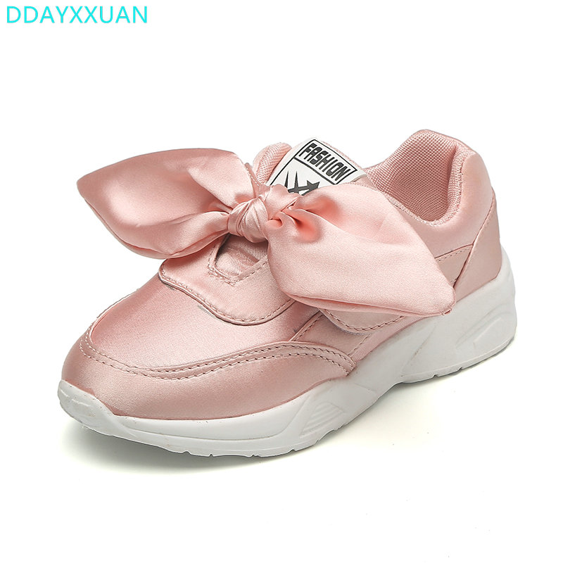 Girls Sports Shoes 2018 New Autumn fashion Bow Children Sneakers rubber sole flat shoes kids Casual Shoes for girls EU 26~30Girls Sports Shoes 2018 New Autumn fashion Bow Children Sneakers rubber sole flat shoes kids Casual Shoes for girls EU 26~30