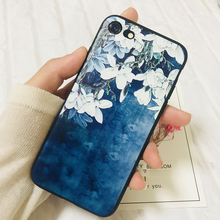 3D Relief Flower Luxury Cases For Iphone 6 6s plus i6 i6s TPU Silicone Rubber Soft Cover Case i7 i8 iX Funda high quality