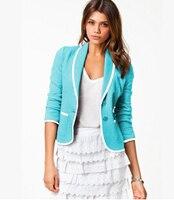 2018 Blazer Women One Button Ladies Candy Suits Blaser 5 Color 7 Sizes Hot Wholesale Blazer