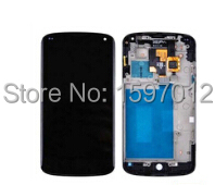 E960 Lcd For Lg nexus 4 Display+Touch Glass Digitizer+Frame Assembly Black color replacement Screen free shipping new lcd touch screen digitizer with frame assembly for lg google nexus 5 d820 d821 free shipping
