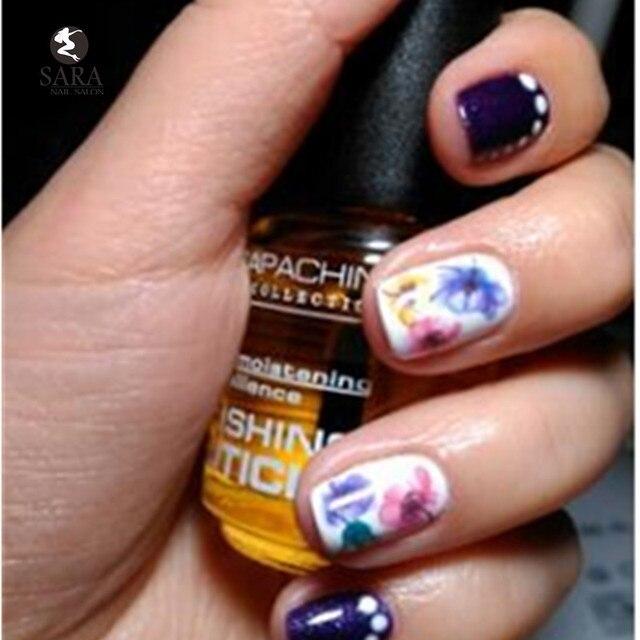 Nail Salon 1x Fashion 3d Purple Beautiful Flower Sticker Nail Art