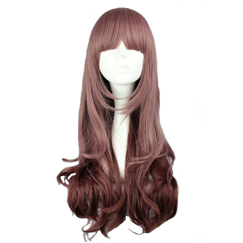 MCOSER 60cm Long Wavy Multi-Color Wig Synthetic Hair Heat Resistant 100% High Temperatur ...