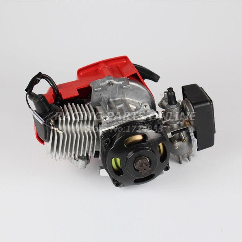 49cc pocket bike 2 stroke pull start motor voor mini go. Black Bedroom Furniture Sets. Home Design Ideas