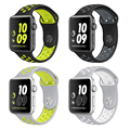 Flexible breathable sport silicone Band for apple watch Series 2 42/38mm Stylish Cool Bracelet Strap for Apple Watch bands
