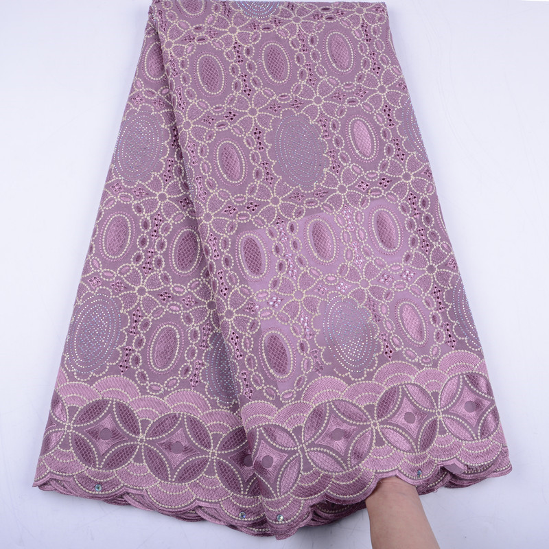 Onion Color African Cotton Lace Fabric 2019 Design Swiss Voile Lace In Switzerland High Quality Swiss