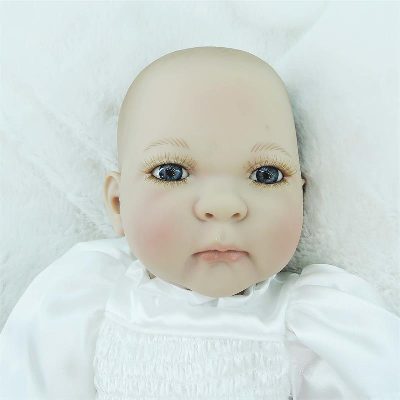 New Silicone Doll Reborn Cotton Body Reborn Babies Toys Lovely Cute Gift For Children Girls Brinquedos Baby-reborn Dolls new lovely reborn babies silicone dolls reborn cotton body princess doll girls toy for christmas and new year baby brinquedos