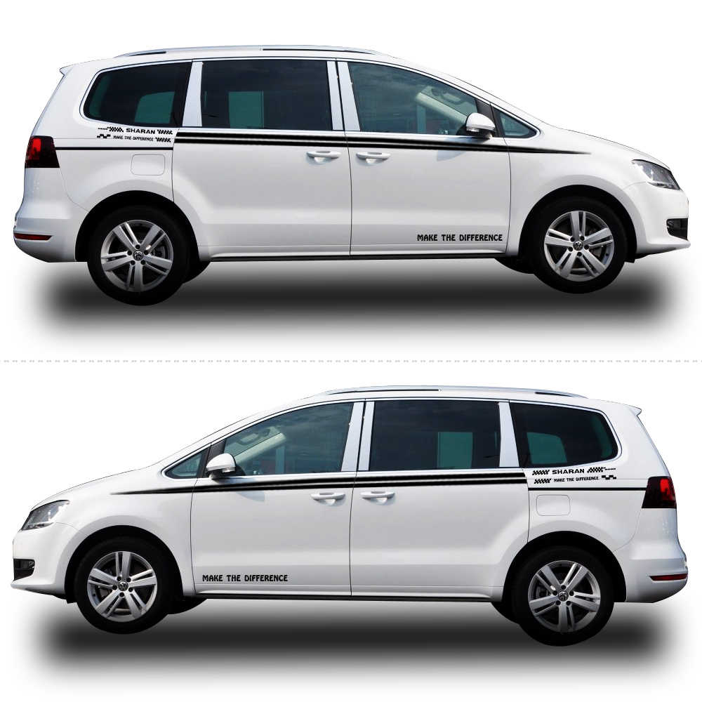Car sticker for vw volkswagen sharan car styling auto vinyl graphic car side body decals diy