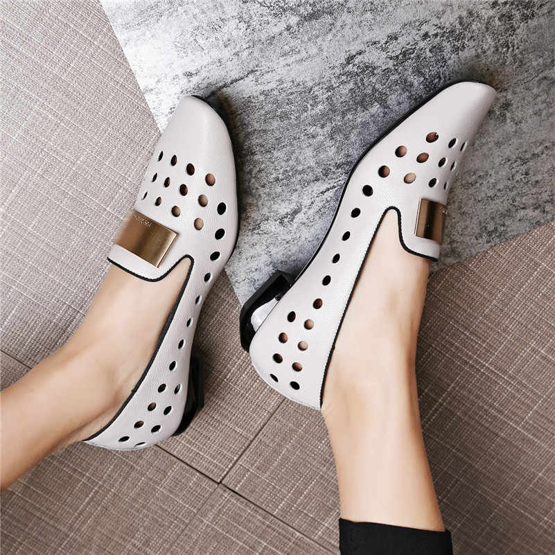 FEDONAS New Arrival Fashion Style Women Pumps Sexy Cut-outs Women Dress Shoes Comfort Casual Shoes Woman Summer Autumn Pumps