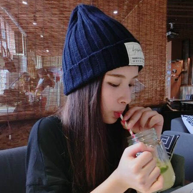 korean New Beanies  Winter Warm Knitted Wool Elegant Women Knitted Hats Cap Autumn Winter Ladies Female Hat pointed hat knitted korean candy colored cap knitted wool hats men and women autumn winter warm couple cap 90005