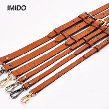 IMIDO 130cm Long bag Strap Genuine Leather Women Bags replacement straps shoulder belt handbags accessories parts Brown STP058(China)
