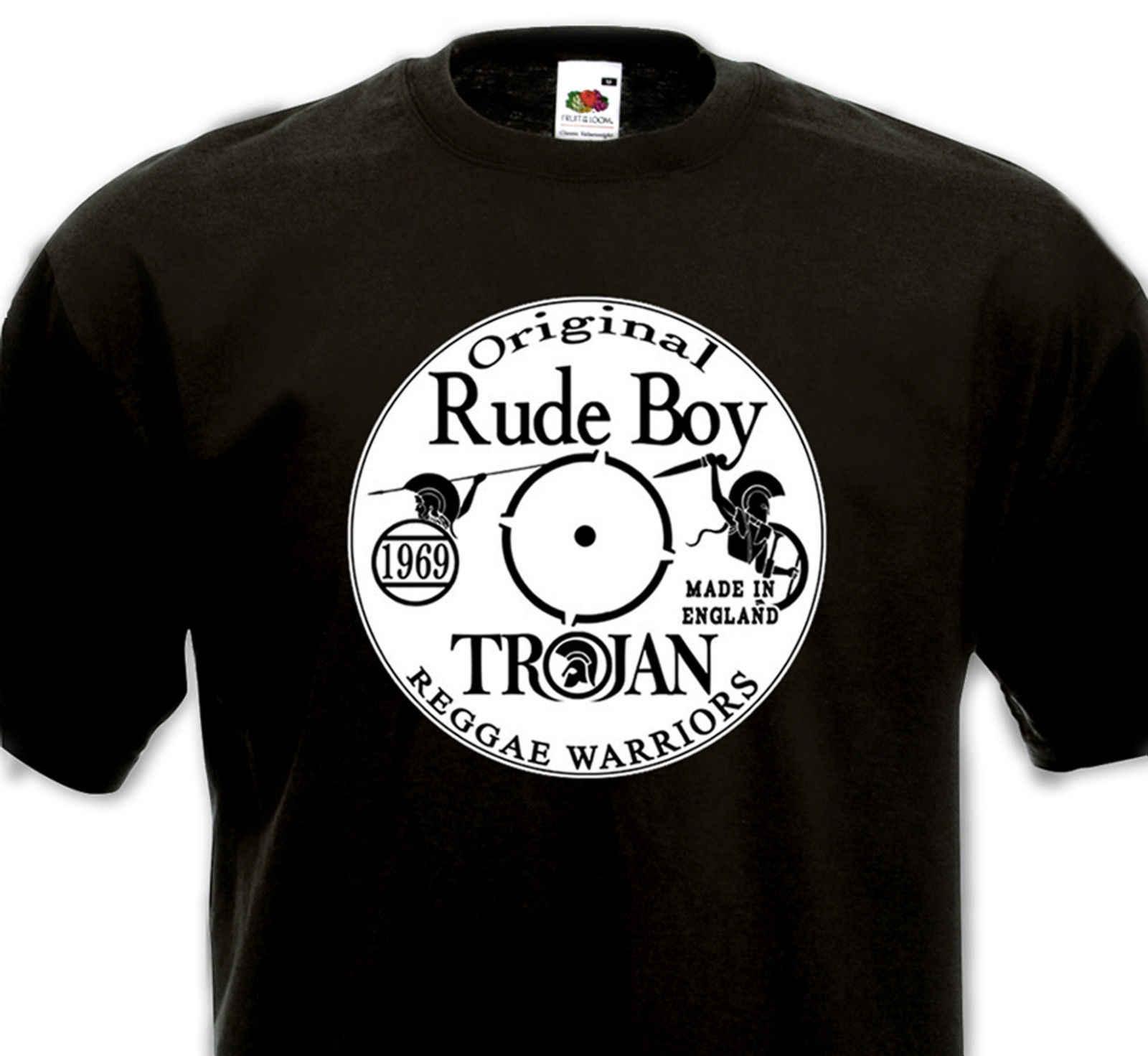 59d7715c2 T-SHIRT Original Rude Boy - Ska Reggae Dub Vinyl Trojan Studio 1 Coxsone -