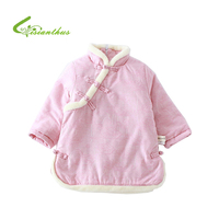 2018 Winter New Cute Baby Girl Dress Chinese Style Thick Girls Dresses Casual Kids Clothes Long