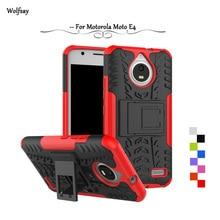Wolfsay For Case Motorola Moto E4 Cover Case Tough Impact Case For Motorola Moto E4 Cover For Moto E4 XT1762 XT1772 Rubber Funda