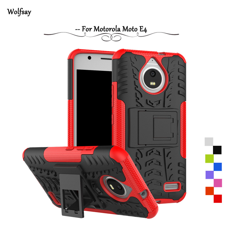 Wolfsay For Case <font><b>Motorola</b></font> Moto <font><b>E4</b></font> Cover Case Tough Impact Case For <font><b>Motorola</b></font> Moto <font><b>E4</b></font> Cover For Moto <font><b>E4</b></font> <font><b>XT1762</b></font> XT1772 Rubber Funda image