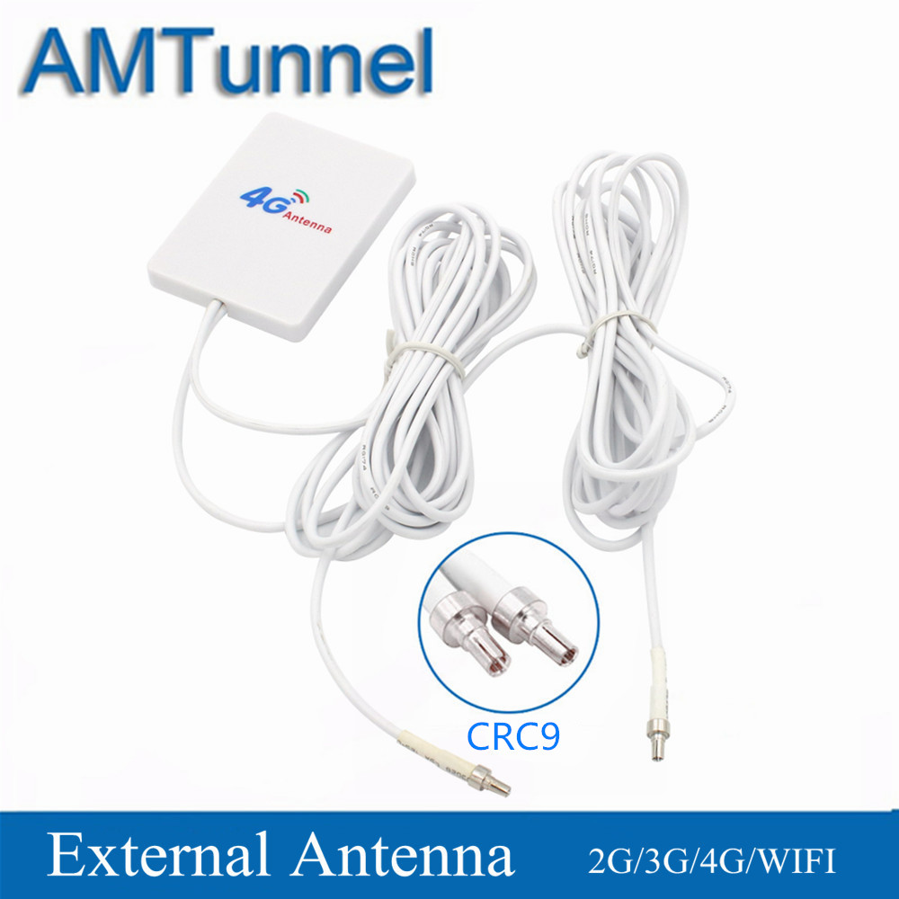 5M 4G Antenna CRC9 28dBi Antena WiFi 3G LTE Antenna 700-2700MHz Dual Cable For Huawei E3372 E3276 Vodafone K5007 ZTE Routers