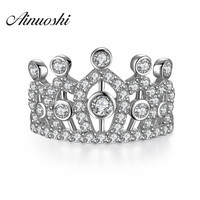 Authentic 925 Sterling Silver My Princess Queen Crown Ring Palace Restoring Ancient Ways Design Wedding Rings