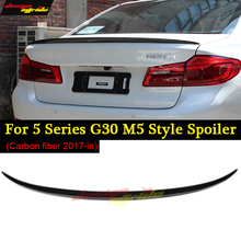 for BMW g30 spoiler  Rear Trunk Wing tail M5 Look Carbon Fiber Boot Spoiler 520d 530i 530d 540i 525i 17-in