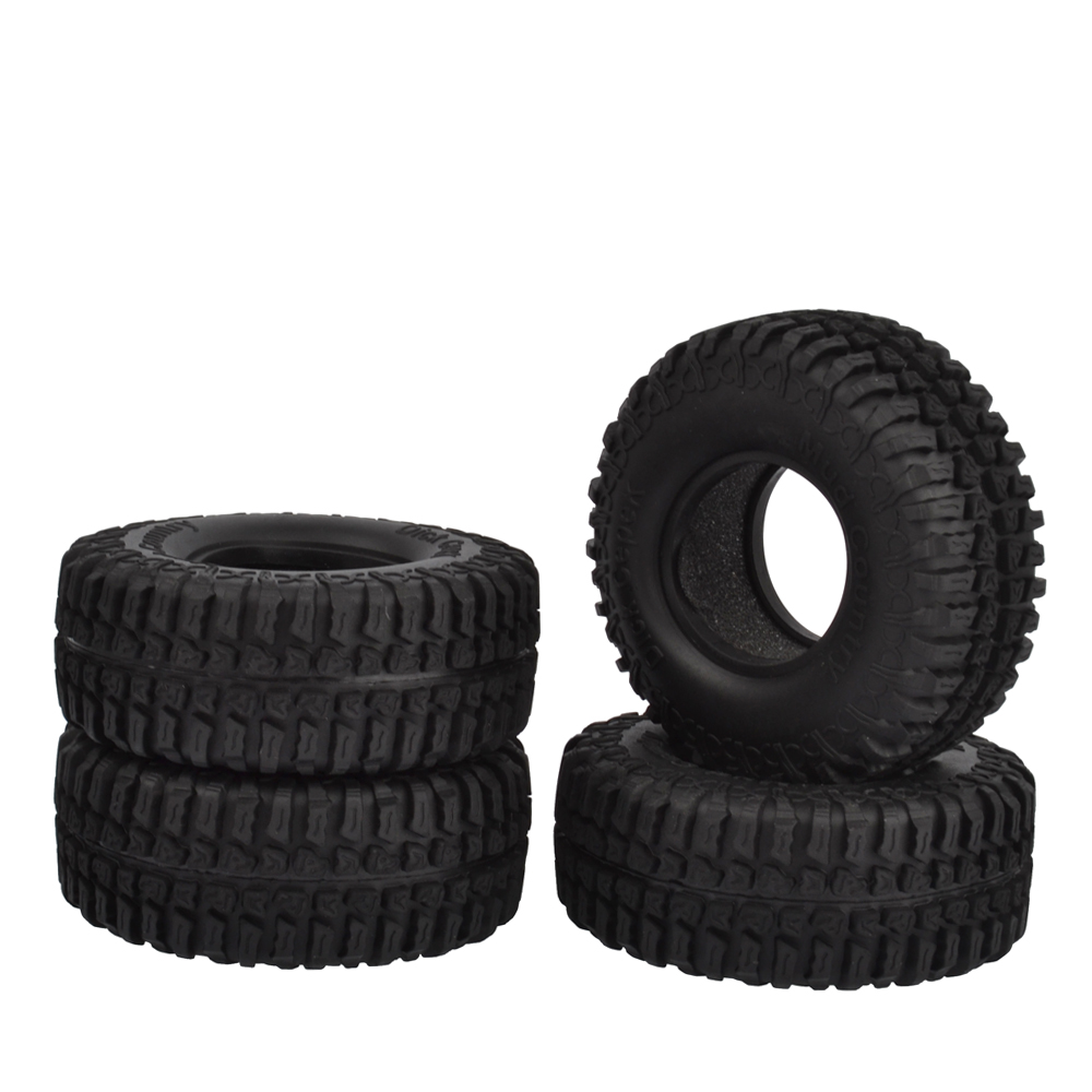 1/10 Scale Tires for 1.9inch 100mm RC Tires Rubber Tyre for Rc Crawler RC4WD Axial SCX10 D90 1.9 Wheels 4pcs 1 10 rc crawler 1 9 rubber tires