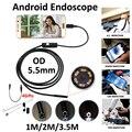 Armgroup 5.5mm USB Endoscopio Android Cámara 1 M 2 M 3.5 M Impermeable Inspección de La Serpiente Endoscópica USB OTG Android boroscopio Cámara