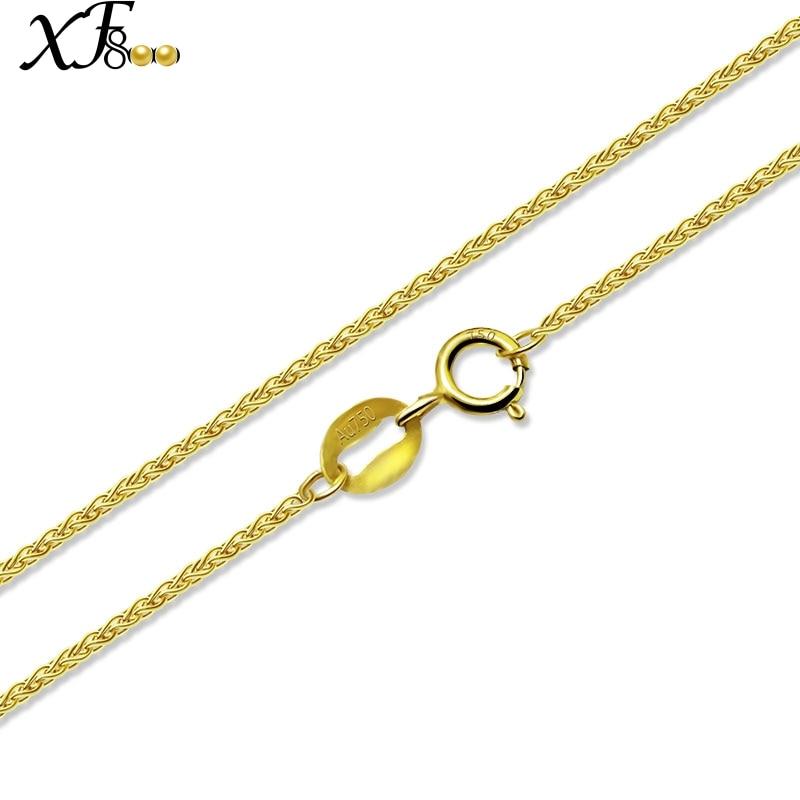 XF800 bijoux fins véritable 18 K or jaune collier pendentif au750 40 cm 45 cm 80 cm cadeau de fête de mariage pour les femmes Chopin XFX312