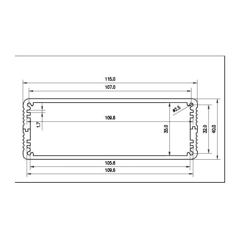 Kaolanhon DIY Kotak 115*40*168 Mm BZ1104 Semua Aluminium Amplifier Case Kandang Preamp Amp DAC Amplifier Chassis perumahan