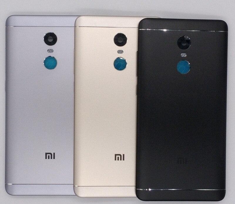 Neue Für Xiaomi Redmi Hinweis 4X32 GB (Snapdragon 625) Ersatzteile Zurück Battery Cover + Knöpfe + Kamera Blitz Objektiv Ersatz