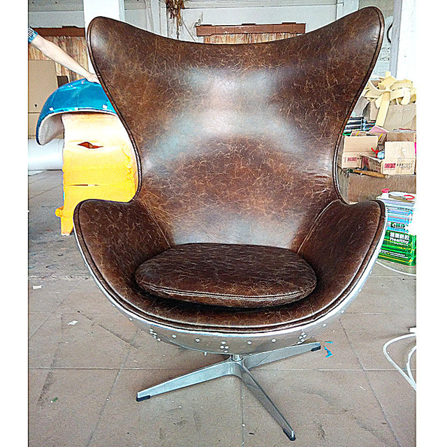 european neo classical low key luxury leather swivel chair handmade