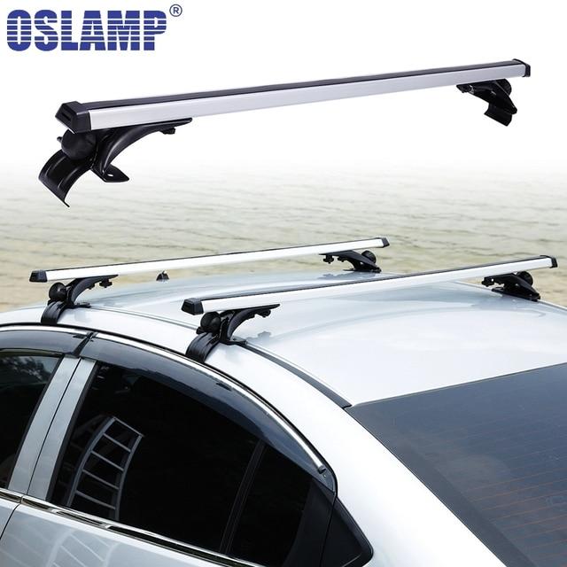 Oslamp 120cm 68KG Universal Car Roof Rack Aluminum Adjustable Roof Rack Cross  Bar For Jeep Ford