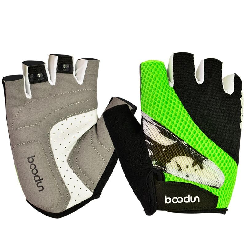 BOODUN Cycling font b Gloves b font Half Finger Bike font b Gloves b font Shockproof