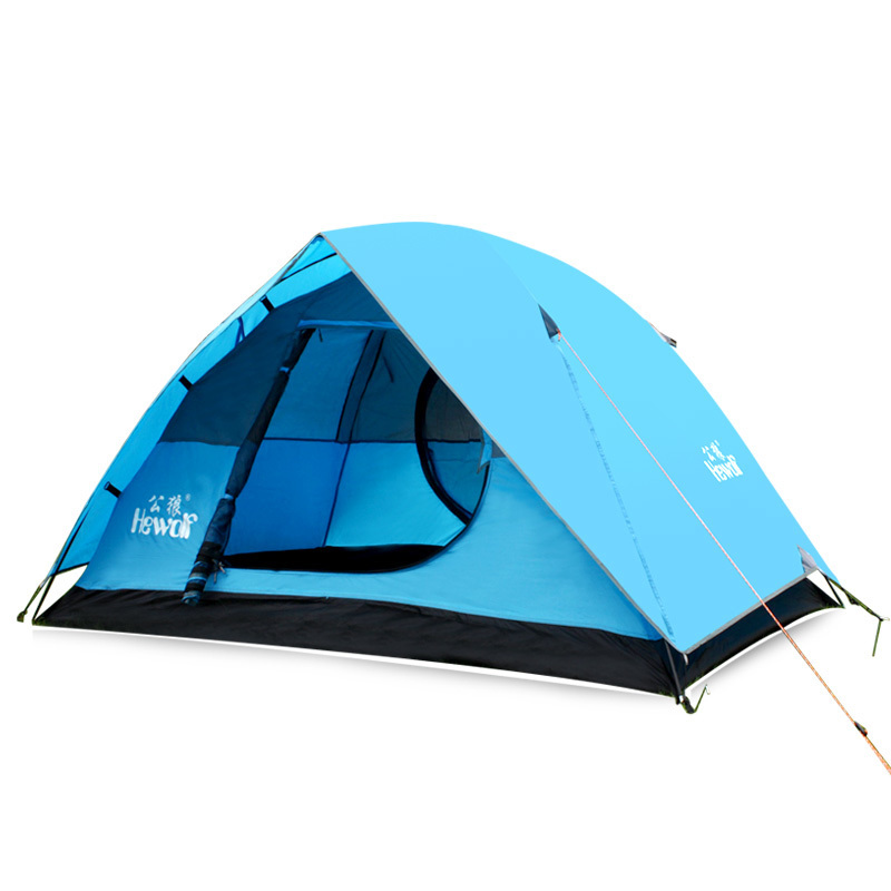 2 Person Ultralight Double Layer Camping Tents Outdoor Carpas Beach Awning Fishing Tarp Waterproof Portable Folding Bed Tente 1 2 person double layer camping beach tent 4 season aluminum rod outdoor barraca winter ice fishing ultralight awning tente zp99