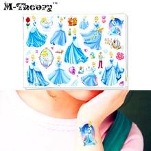 M-theory Cartoon Makeup Temporary Tattoos Body Art Toys Cinderalla Princess Tatuagem Flash Tatoos Stickers Toy Decoration Decals