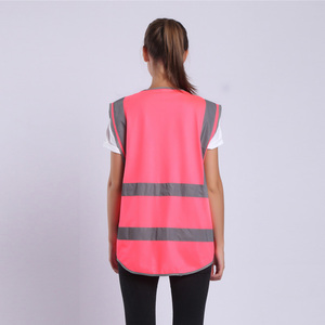 Image 5 - Gilet de sécurité pour femmes, uniformes de travail pour haute visibilité avec poches, rose