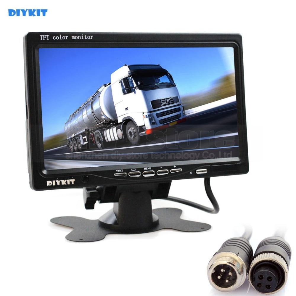 DIYKIT дюймов 7 дюймов TFT ЖК-дисплей цветной монитор заднего вида монитор автомобиля монитор с 2 x 4PIN видео вход