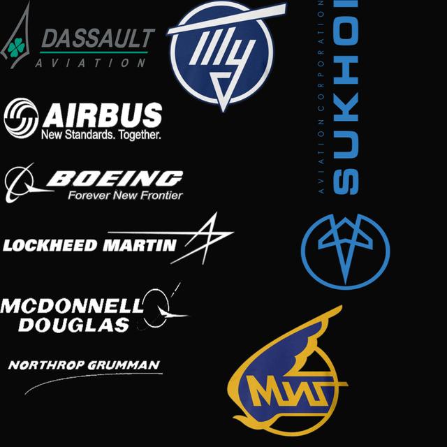 Mcdonnell DOUGLAS Mikoyan MIG Northrop Grumman Sukhoi BOEING AIRBUS LOCKHEED MARTIN Dassault aeroespacial aviação dos homens camisas