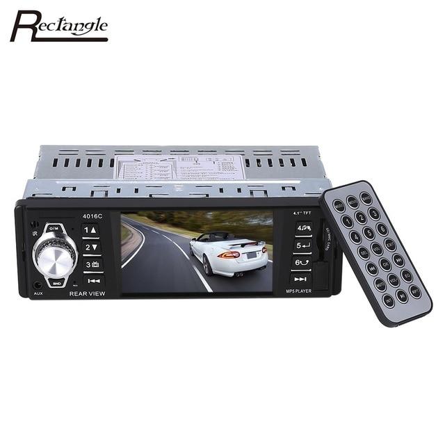 4.1 Inch In-Dash HD Digital Car MP5 Player FM Radio 1 DIN Car Audio Video Player USB SD AUX Interfaces Dynamic Menu Interface